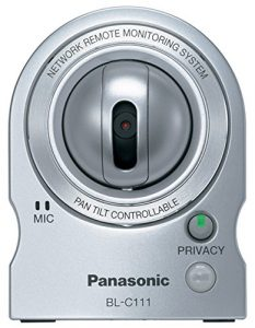 Panasonic BL-C111 mini network security camera with Remote Pan/Tilt and Zoom Control