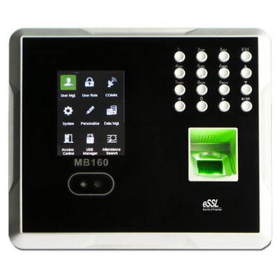 essl mb160 multi-biometric face time attendance with access control functions